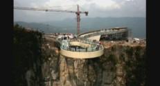 Un pont en verre dévoilée en Chine.