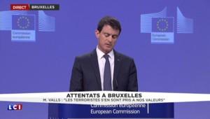 """Attentats à Bruxelles : """"Nous sommes en guerre car une guerre nous a été déclarée"""", affirme Valls"""
