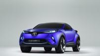 Le nouveau concept de crossover hybride, dénommé CH-R, de Toyota.