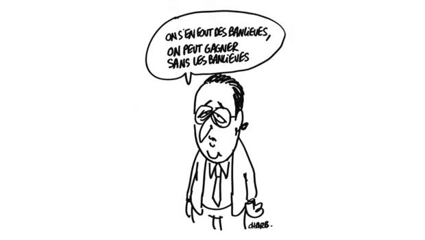 """Les dessins satiriques du dessinateur et directeur de """"Charlie Hebdo"""", Charb sont réalisés en direct tous les mardis sur LCI, dans l'émission """"Choisissez votre camp"""", de Valérie Expert."""