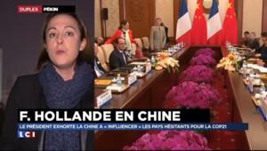 """François Hollande en Chine : """"Une visite d'État exclusivement consacrée au climat"""""""