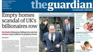 François Hollande en une du Guardian.