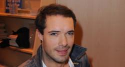 L'humoriste Nicolas Bedos à la Porte de Versailles à Paris le 17 mars 2012