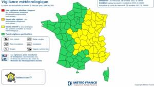 Les aleres orange aux inondations pour la Drôme et l'Ardèche ont été levées mercredi soir par Météo France.