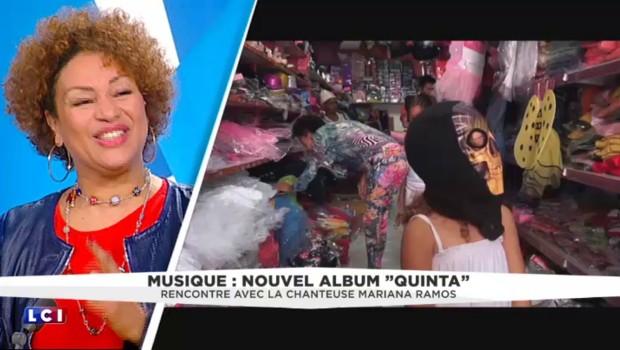 Mariana Ramos dans un salon de coiffure : l'histoire de la couverture de son album