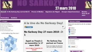 """Appel sur Facebook à un """"No Sarkozy day"""" : capture écran"""