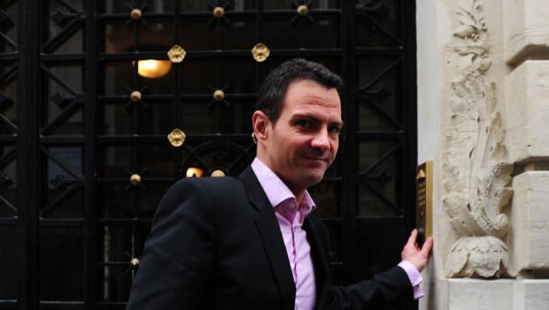 Jérôme Kerviel, ex-trader de la Société Générale, à Paris en avril 2012