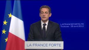 Sarkozy à Toulouse, le 29 avril 2012.