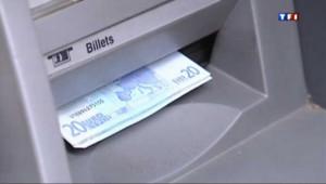 Un distributeur automatique de billets.