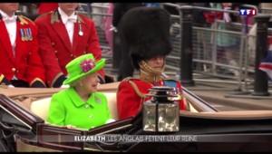 Vêtue d'une robe verte fluo, Élizabeth II fête son 90e anniversaire ce week-end