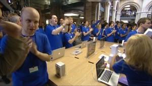 L'ouverture del'Apple Store à Londres, le 7 août 2010.