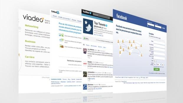 Quelques grands réseaux sociaux