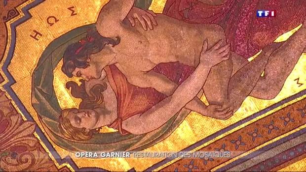 A l'Opéra Garnier, les mosaïstes s'activent pour redonner des couleurs à l'enceinte