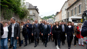 François Hollande à Tulle le 9 juin 2012.