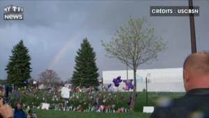 Un arc-en-ciel apparaît au-dessus du studio où Prince a été retrouvé mort