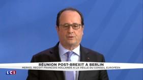 """Brexit : """"La responsabilité, c'est de ne pas perdre de temps"""", dit François Hollande"""