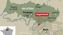 Carte de localisation d'Argenteuil