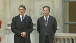 Passation de pouvoir entre Chatel et Peillon à l'Education, le 17 mais 2012.