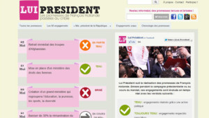 Capture d'écran du site luipresident.fr.