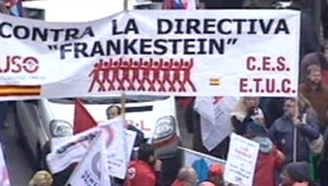 Manifestation contre Bolkestein