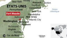 fort meade nsa maryland infographie carte