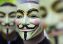 Le masque désormais emblématique du groupe d'hacktivistes Anonymous