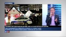 """Une camionnette fonce sur le marché de Noël à Nantes : """"La personne saignait du ventre"""""""