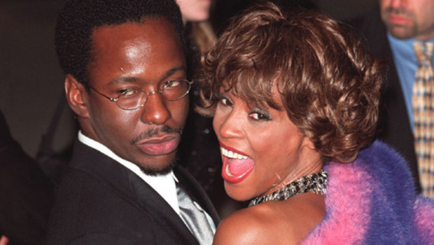 Bobby Brown, l'ex-mari de Whitney Houston, accompagné de la chanteuse (photo d'archive)