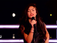 Victoria Adamo dans une battle de The Voice