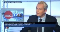 """Bruno Le Maire : """"Jean Sarkozy m'a fait l'amitié de venir à mon meeting"""""""