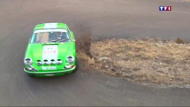 Dans les virages du rallye de Monte Carlo historique
