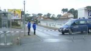 Le lieu de la fusillade entre des membres présumés de l'ETA et des gardes civiles espagnols, le 1er décembre 2007