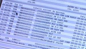 """Liste des alertes (""""ACARS"""") transmises par le vol AF-447"""