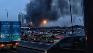 Autre témoin proche de la scène de l'accident, Quin Murray a envoyé cette photo de la fumée s'élevant au-dessus du quartier.