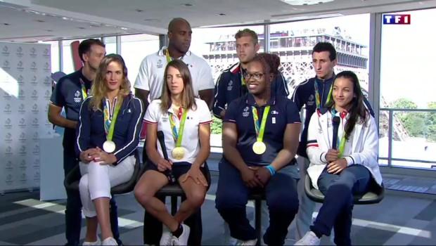 Le retour des héros de Rio : l'interview de 8 médaillés tricolores sur TF1