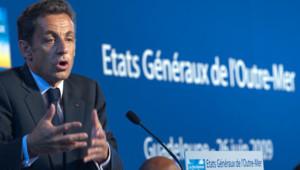 Nicolas Sarkozy aux Antilles
