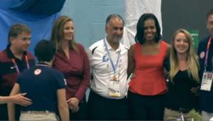 Vidéo : Michelle Obama au côté des athlètes américains pur les JO