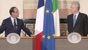 François Hollande et Mario Monti le 4 septembre 2012, à Rome.