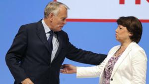 Martine Aubry et Jean-Marc Ayrault en meeting commun à Nantes pour les législatives, le 2 juin 2012.
