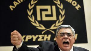 Nikos Michaloliakos, fondateur du parti Aube dorée en 1980
