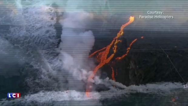 Hawaï : la lave du volcan Kilauea a atteint les eaux de l'océan Pacifique
