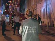 Les enquêteurs sur les lieux d'un incendie suspect à Marseille le 19 mai 2005 (LCI/TF1)