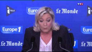 """Le 13 heures du 3 mai 2015 : Marine Le Pen : """"Jean-Marie Le Pen ne peut plus parler au nom du FN"""" - 581.5699999999999"""