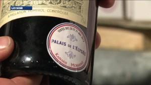 L'étiquette apposée sur les bouteilles de vin de la cave de l'Elysée vendues aux enchères fin mai 2013 à Drouot