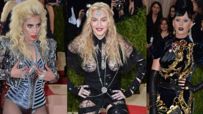 Lady Gaga, Madonna et Katy Perry au MET Gala de New York