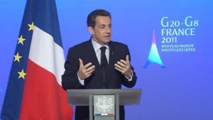 Sarkozy face à la presse: le G20 et l'étranger au menu