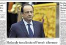 François Hollande en une du New York Times