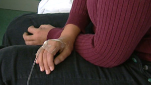TF1/LCI : Une patiente sous perfusion