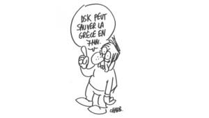 """Dessins réalisés en direct par Charb sur le plateau de """"Choisissez votre camp"""", de Valérie Expert diffusée sur LCI."""