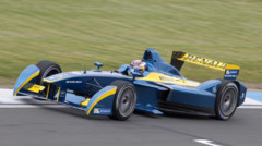 Sébastien Buemi (e.DAMS-Renault) aux essais Formule E à Donington le 3 juillet 2014